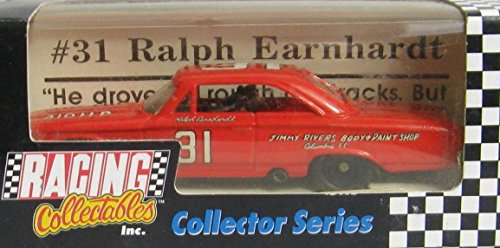 NASCAR Ralph Earnhardt #31 Jimmy Rivers Body & Paint Shop 1963 Ford Galaxie Father of The Intimidator 1/64 Scale Diecast Racing Collectables Collector Series