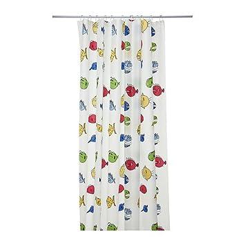 Duschvorhang Ikea ikea svalen duschvorhang wasser abweisend amazon de küche haushalt