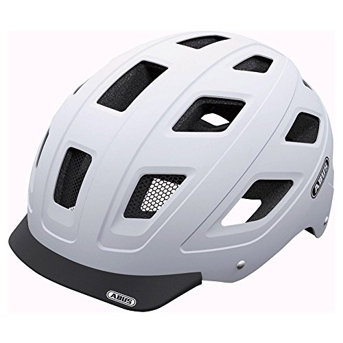 Abus Hyban Urban Helmet with Integrated LED Taillight, Polar White, - Dial Eggshell