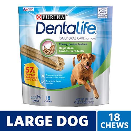 (Purina DentaLife Made in USA Facilities Large Dog Dental Chews; Daily - 18 ct.)