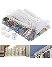 JuxYes Kids/Child Safety Net - Balcony and Stairway Railing Safety Net For Baby Toys Pets Animals,Safety Prevention Mesh Net for Indoor Outdoor Patios Stairs Railing Guard Accident