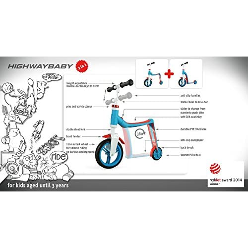 Scooter/Laufrad Scoot & Ride Highwaybaby blau-orange