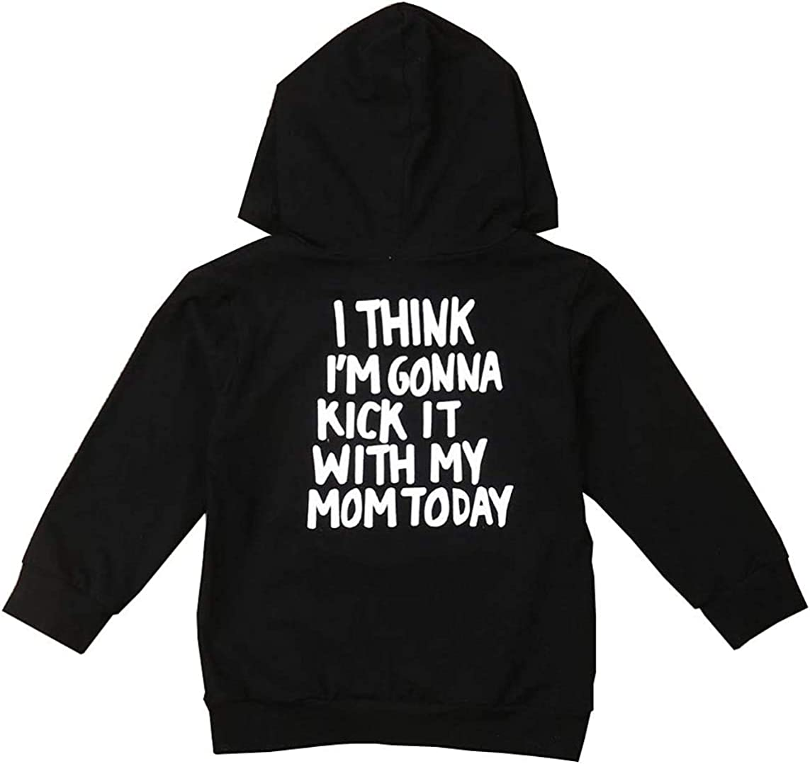 Toddler Boys Girls Hoodies Sweatshirt Casual Long Sleeve Pullover Sweater Tops Fall Winter Outdoor Outfit Clothes (Mom Pullover Hoodies,3-4T)