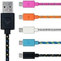 Cabo USB Micro x USB (M/M) 1,80m colorido***