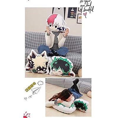 FJMM Anime My Hero Academia Round Plush Pillow Midoriya Izuku Doll Toys Cushion 45CM: Home & Kitchen