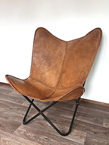 Brown Leather Arm Chair Butterfly Leather Butterfly Chair