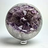 Astro Gallery Of Gems Amethyst Geode Agate Sphere (4.8'' diameter, 5 lbs)
