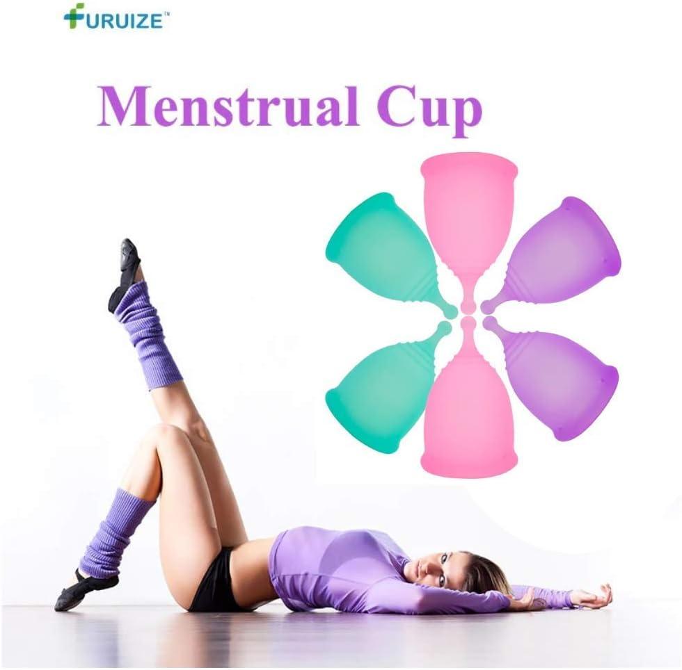 Copa Menstrual Furuize Sport con Taza de Esterilización. Silicona suave de grado médico 100%. Previene infecciones y fortalece el suelo pélvico. ...