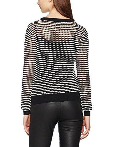 Morgan, Suéter para Mujer multicolor (Noir/Écru)