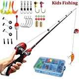 Kids Fishing Pole Spincast Reel Easiest Kids Fishing Rod 55 inches with Tackles Box Ready to Go For Sale