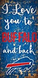 Fan Creations NFL Buffalo Bills I Love You to Signbuffalo Bills I Love You to Sign, Team, One Sizes