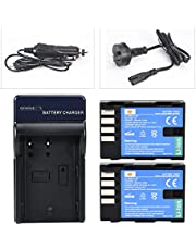 DSTE for 2X DMW-BLF19 DMW-BLF19E DMW-BLF19PP + DC141 Travel and Car Charger Adapter Compatible Panasonic Lumix DMC-GH3 GH3A GH3AGK GH3GK GH3H DC-G9GK-K Lumix G9 DC-GH5 DC-GH5S Camera