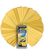 Schleifpapier Set, 120 Stück Sandpapier Trocken / Nass, 20 to150 Grit, 9 x 3,6 Zoll, für Automobil Schleifen, Holzmöbellackierung, Veredelung, Holzverarbeitung