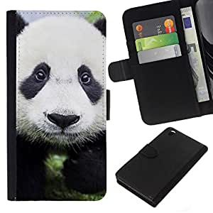 NEECELL GIFT forCITY // Billetera de cuero Caso Cubierta de protección Carcasa / Leather Wallet Case for HTC DESIRE 816 // Bebé lindo de la panda