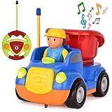 Rainbrace Toddler Remote Control Car Cartoon RC Dump Truck Toy with...