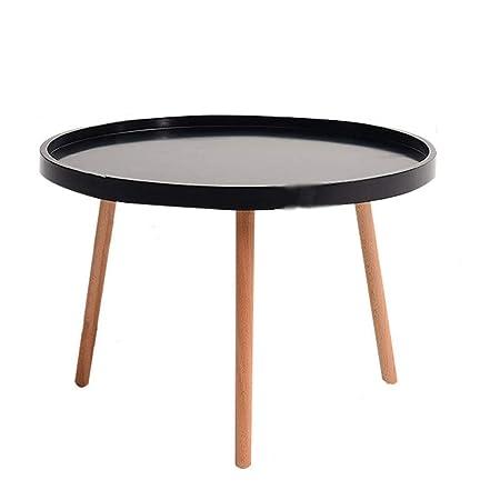 BZ-ZK SZQ-Mesa de café redonda, color sólido, tamaño pequeño, de ...
