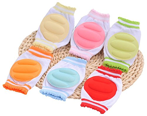ZJY Adjustable Elastic Baby Knee Pad Crawling Safety Protector for Infant Toddler, 6 Pairs by ZJY