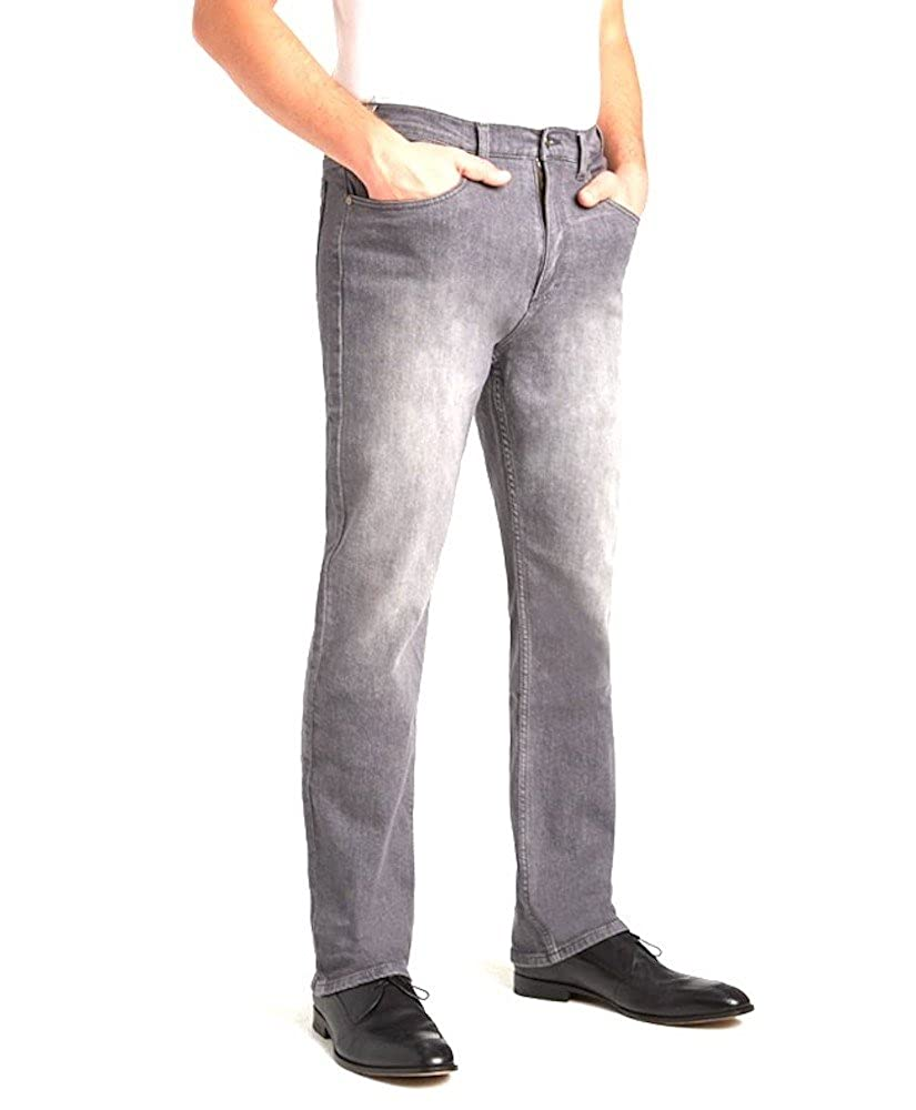 Elliesox Grey Stretch Traditional Fit Jeans by Grand River 200 42x32