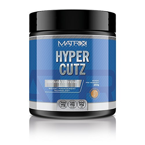 Matrix Nutrition Hyper Cutz 250g Powder - Pre Workout - Energy - Focus - Alertness (Blue & Raspberry) by Matrix Nutrition