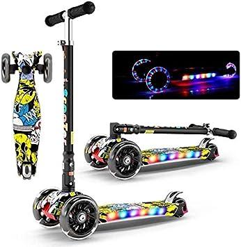 2 en 1 Vespa for los niños, Juguetes for Montar Triciclo, y Altura Regulables 3 LED Ruedas, Scooters for niños, Mini Micro Deluxe Motos, Scooters for niños for niños y niñas