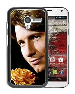 Beautiful Designed Cover Case With Nicholas Basque Face Flower Smile For Motorola Moto X Phone Case
