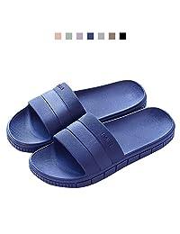 FLY HAWK Women's Men's Household Slippers Casual Non-Slip Bathroom Unisex Slippers Lightweight Sandal Indoor&Outdoor Couple Slippers,7 Colors