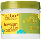 Alba Botanica Aloe & Green Tea Oil Free Moisturizer, Hawaiian, 3 Ounce Bottle