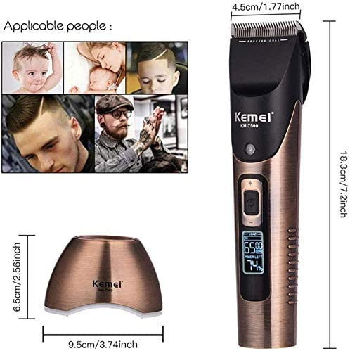 Hair Clipper Hair Clipper Rechargeable Cordless Professional Hair Trimmer Kit for Men with Charging Base Cutting Styling Tools  bZIoF