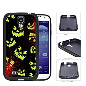 Halloween Scary Face Glow And Blood Splatter Rubber Silicone TPU Cell Phone Case Samsung Galaxy S4 SIV I9500