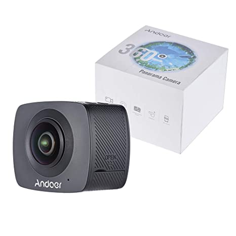 HUAXING Doble Lente 360 Grado panorámico Digital Video Deportes acción VR cámara 30fps HD 8MP w/220 Degree Ojos de pez Lente: Amazon.es: Hogar