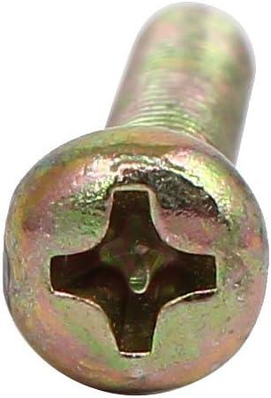 sourcingmap/® M4 x 25mm totalmente rosca tornillos de m/áquina de cabeza redonda Phillips Pernos sujetadores 30pcs