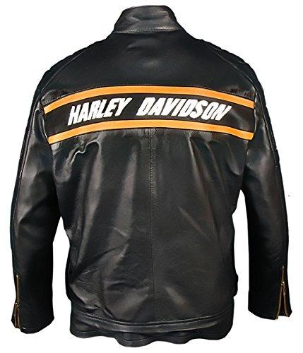 Leatherly Goldberg Pelle Stile Giacca Motociclista Uomo Nero Bill tnp4tWrxz