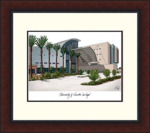 UNLV Running Rebels Lithograph Framed Campus Print by Landmark Publishing