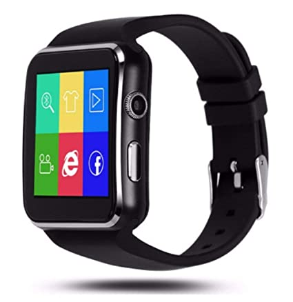 Bluetooth Smartwatch, IOQSOF Smart Wrist Watches for Android iOS iPhone Samsung Huawei Sony Sleep Tracker Support Micro SIM Card,Men Women Kids Boys ...