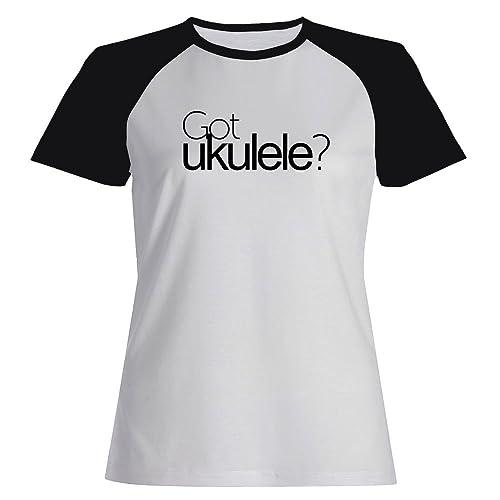 Idakoos Got Ukulele? - Strumenti - Maglietta Raglan Donna