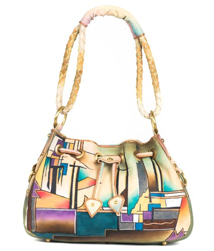ZIMBELMANN POLLY Genuine Nappa Leather Hand-painted Hobo Shoulder Bag by Zimbelmann