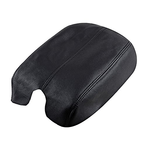Price comparison product image Real Genuine Leather Console Lid Armrest Arm Rest Cover Upholstery For 2008-2012 08-12 Honda Accord (Black)