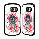 Official Monika Strigel Wolf Animals And Flowers Hybrid Case for Samsung Galaxy S6 edge+ / Plus