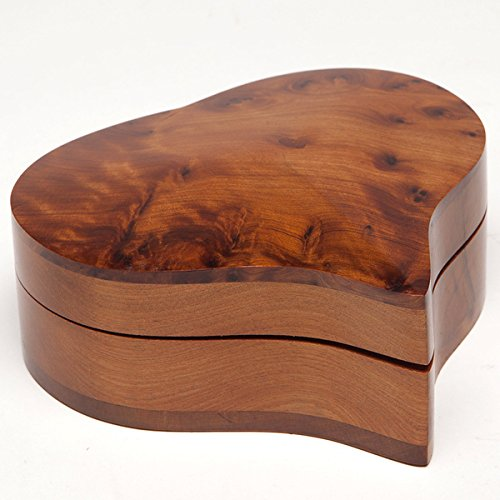 - Heart-Shaped Moroccan Thuya Wood Box