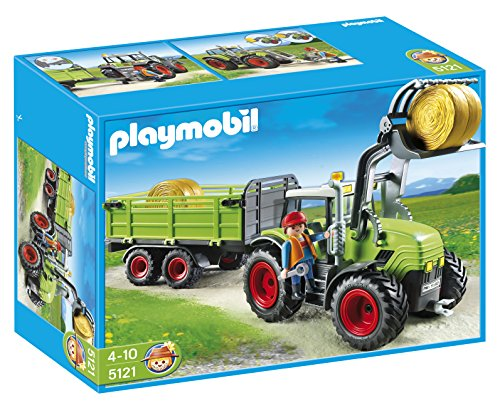 PLAYMOBIL Hay Baler with - Hay Trailer