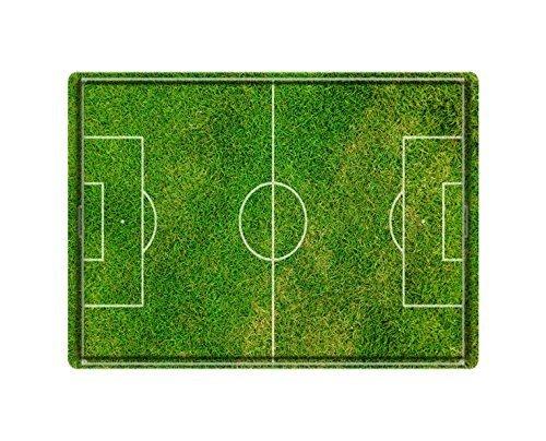 Topmail Mini calcio zerbino campo da calcio Pitch verde erba morbida antiscivolo resistente porta tappeto interno esterno, 40 x 60 cm