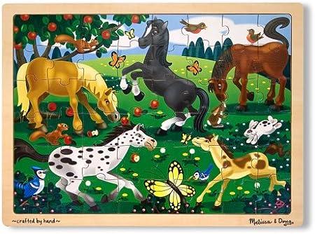 Melissa & Doug- Frolicking Horses Juego Puzzle con 48 Piezas, Multicolor (Melissa&Doug 3801)
