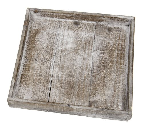 Wooden tray natural 30x30x4cm