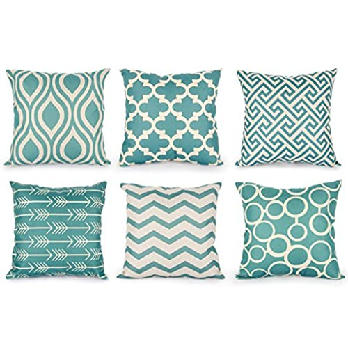 teal decorative pillows amazoncom