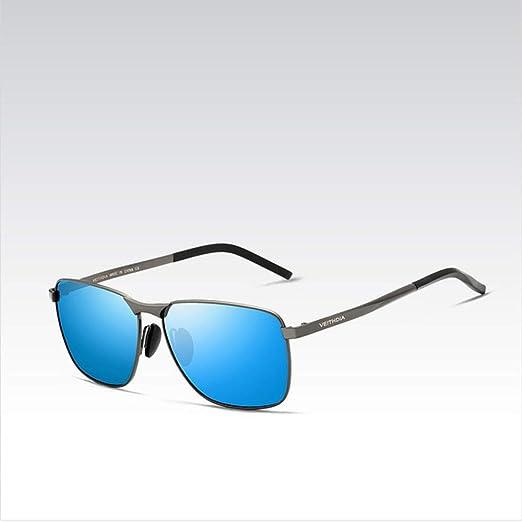Yangjing-hl Gafas de Sol cuadradas Vintage para Hombre de ...