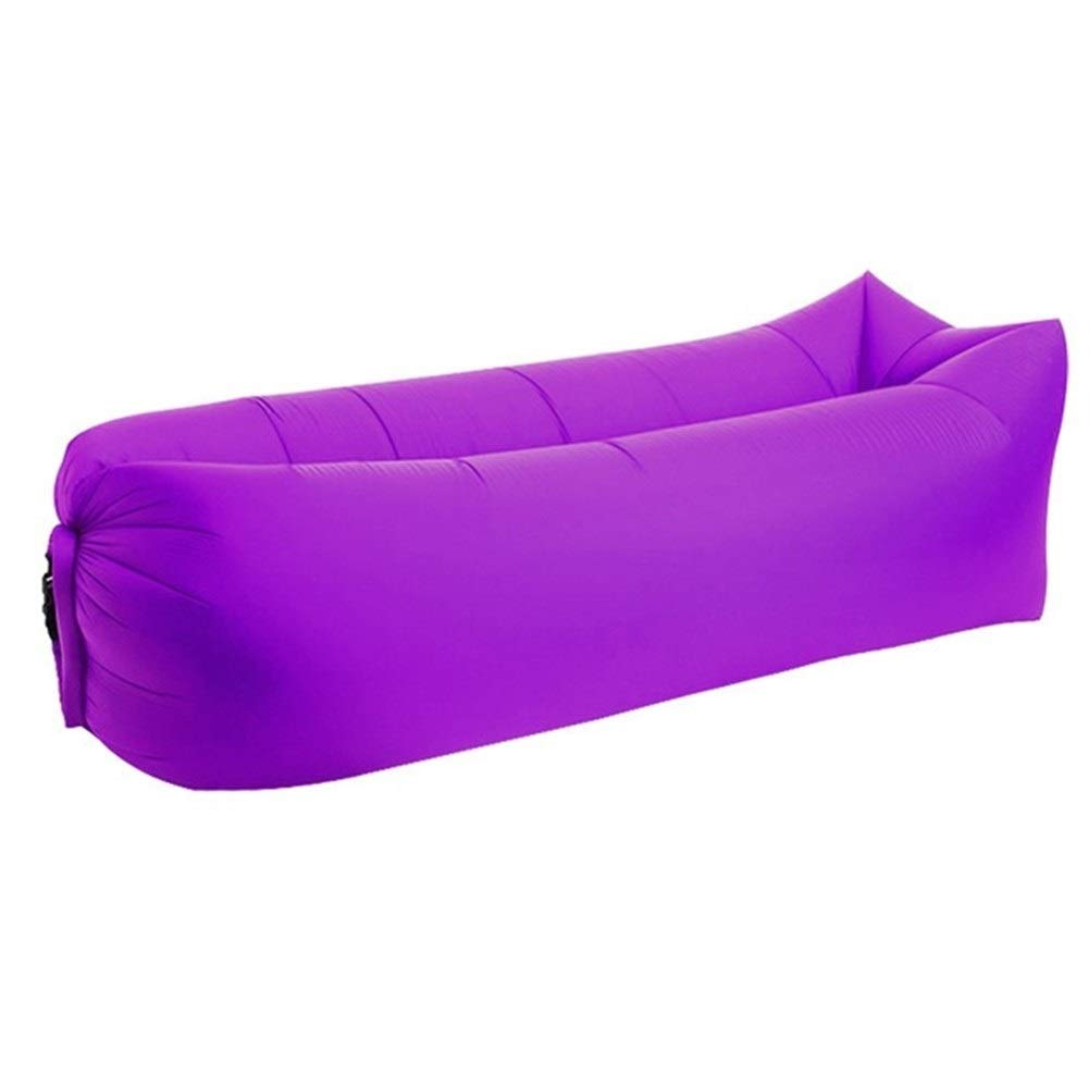 Peninsula Iron Box Camping mat Lazy Bag Lazy Outdoor Camping Lazy Couch Beach Picnic mat Inflatable Sofa Bed Bean Bag air Sofa Leisure Cushion sdaijeuh787 (Color : Purple) by Peninsula Iron Box