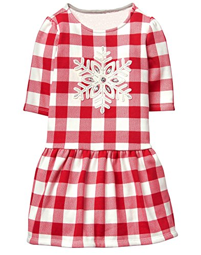 Gymboree Toddler Girls' Ruffle Bottom Printed Dress, Check, - Printed Dress Check