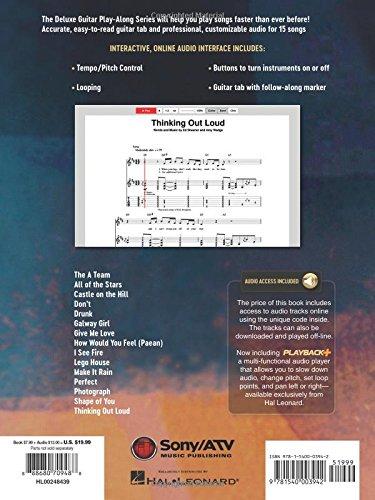 Amazon.com: Ed Sheeran: Deluxe Guitar Play-Along Volume 9 Bk/Online ...