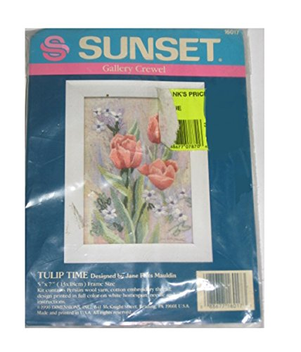 Vintage Tulip Time Crewel Kit by Dimensions #16017