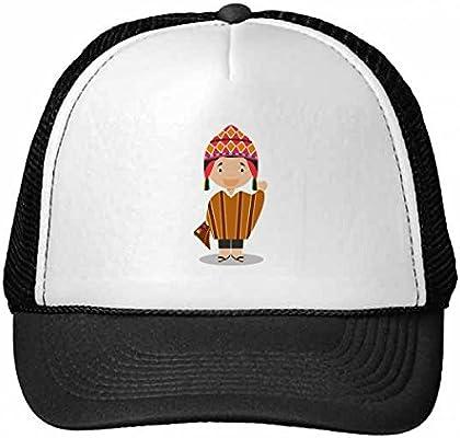 DIYthinker Sombrero Colorido de Dibujos Animados Perú Gorros Gorra ...